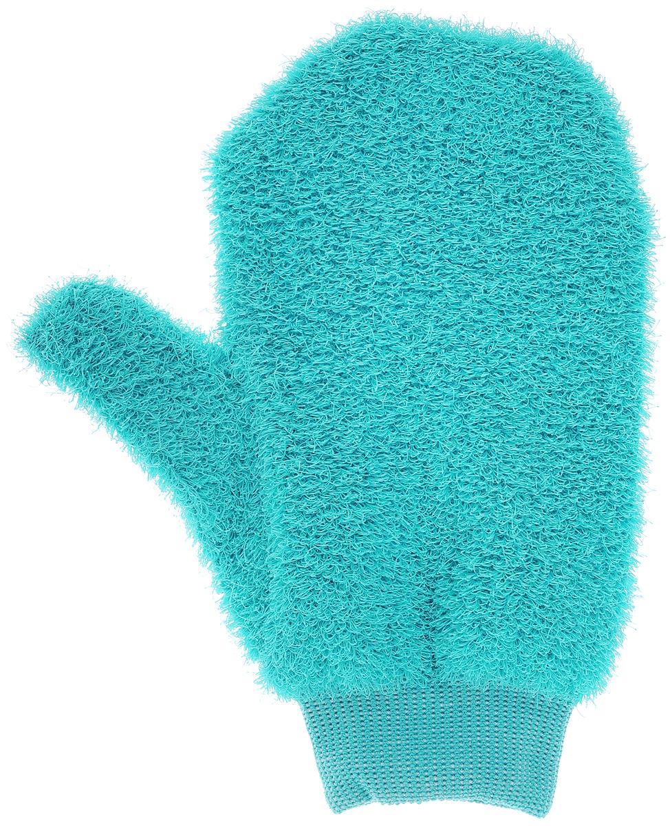 Мочалка-рукавица массажная Riffi, жесткая, цвет: бирюзовый1106_голубойЖесткая мочалка-рукавица Riffi используется для мытья тела, обладает активным пилинговым действием, тонизируя, массируя и эффективно очищая вашу кожу. Интенсивный и пощипывающе свежий массаж с применением Riffi оживляет кожу, активирует кровоснабжение и улучшает общее самочувствие. Благодаря отшелушивающему эффекту, мочалка освобождает кожу от отмерших клеток, делает ее гладкой, упругой и свежей. Приносит приятное расслабление всему организму. Эффективно предупреждает образование целлюлита.