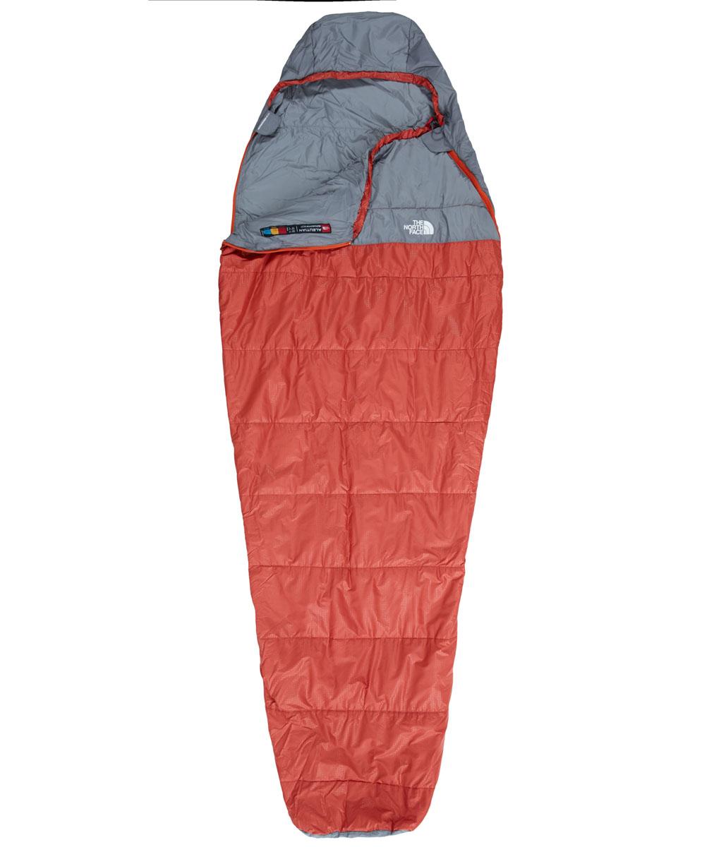 Мешок спальный The North Face Aleutian 50/10, левосторонняя/правосторонняя молния, 77 х 210 смa026124Спальный мешок The North Face Aleutian 50/10 -незаменимая вещь для любителей уюта и комфорта во время активного отдыха. Прекрасно подходит для прохладной погоды, его можно целиком расстегнуть и расстелить в качестве пола в палатке. Спальный мешок закрывается на двустороннюю застежку-молнию. Этот спальный мешок очень вместительный, универсальный, теплый, комфортный и при этом практичный. Спальный мешок упакован в удобный чехол для переноски.