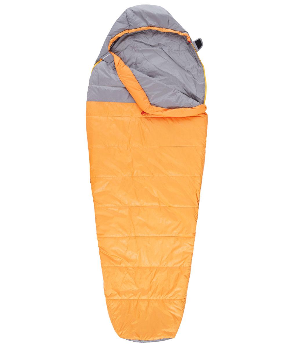 Мешок спальный The North Face Aleutian 35/2, удлиненный, цвет: оранжевый, серый, правосторонняя молнияT0A3A4M5RRH LNGThe North Face Aleutian 35/2 - это трехсезонный спальный мешок для путешествий, который можно целиком расстегнуть и расстелить в палатке. Этот спальный мешок очень вместительный, универсальный, теплый, комфортный и при этом практичный. Спальный мешок упакован в удобный чехол для переноски. Вес наполнителя: 584 г. Длина мешка: 198 см.