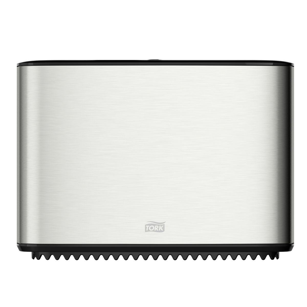 Диспенсер для туалетной бумаги Tork, цвет: металл. 460006460006Система T2 - для туалетной бумаги в мини рулонах Стопор рулона – препятствует бесконтрольному разматыванию рулона. Зубцы для отрыва бумаги, которыми невозможно порезаться. Функция частично использованного рулона Stub roll – красная отметка толщины рулона. Инструкция на крышке. Есть возможность закрепить визитную карточку. Высокая емкость.