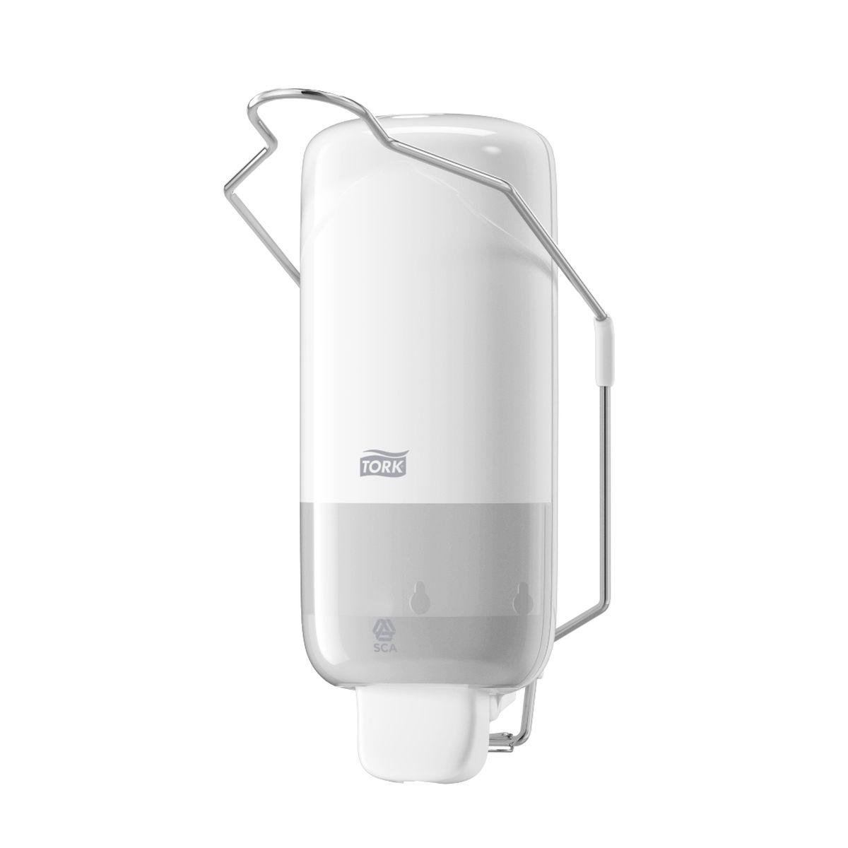 Диспенсер для мыла Tork, цвет: белый. 560100UP210DFДиспенсер с локтевым приводом для мыла Tork Elevation идеально подходит для мест с повышенными гигиеническими требованиями, например, медицинских центров, больниц, лабораторий и пр.Локтевой привод - для помещений с повышенными гигиеническими требованиями.Надежная система подачи мыла - экономичный расход, исключает протекание.Ударопрочный пластик - отвечает всем требованиям гигиены.1000 порций мыла.