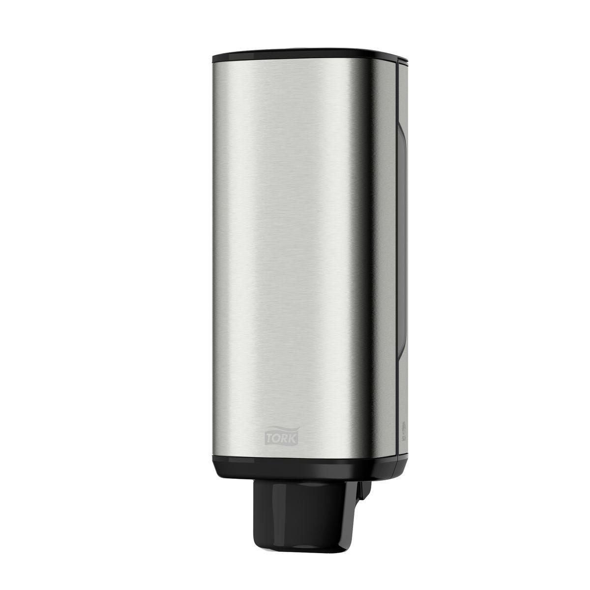 Диспенсер для мыла Tork, цвет: металл. 460010460010Система S4 - Жидкое Мыло-пена Высочайший уровень гигиены благодаря одноразовым картриджам. В диспенсерах есть возможность закрепить визитную карточку. Диспенсер одобрен шведской ассоциацией ревматологов – доказанная простота и комфорт использования. Клавиша с плавным нажатием – обеспечивает удобное и безопасное мытье рук.