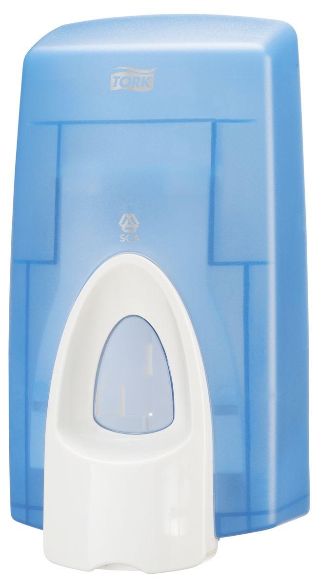 Диспенсер для мыла Tork, цвет: синий. 470210470210Мыло-пена Tork (S34). Мягкая формула с легким ароматом. Плавное нажатие кнопки особенно удобно для детей и пожилых людей. Одноразовый картридж обеспечивает гигиеничность использования. Подходит к диспенсерам Tork системы S34. • Диспенсеры Tork для мыла-пены подходят для любых туалетных комнат • Высокая емкость на 2 000 порций: минимум обслуживания • Плавное нажатие кнопки особенно удобно для детей, инвалидов и пожилых людей • Прочная конструкция: предотвращает вандализм