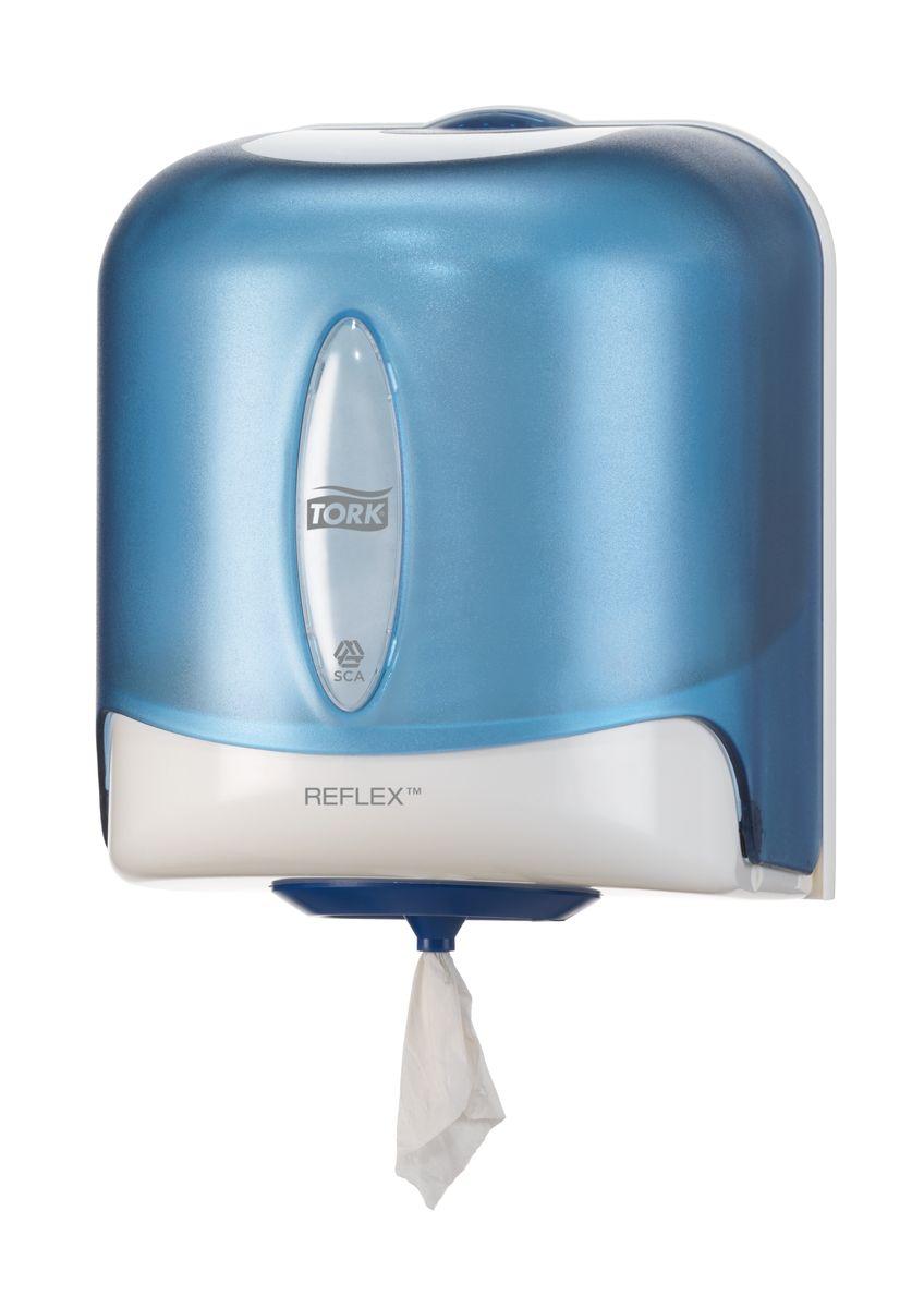 Диспенсер для бумажных полотенец Tork, цвет: голубой. 473133473133Настенный диспенсер с полистовым отбором для рулонов с центральной вытяжкой, контроль потребления и сокращение расходов. Средняя емкость. Полистовой отобор - контроль расхода. Сокращает потребление и количество отходов. Гигиеничность - защита бумаги от влаги и грязи.