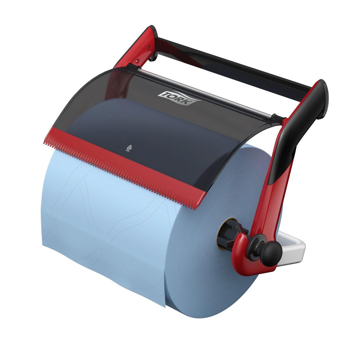 Диспенсер для туалетной бумаги Tork, цвет: красный. 652108652108Держатель для протирочных материалов Tork. Настенный держатель обладает прочной конструкцией и позволит сэкономить место. Быстро и легко менять расходный материал.