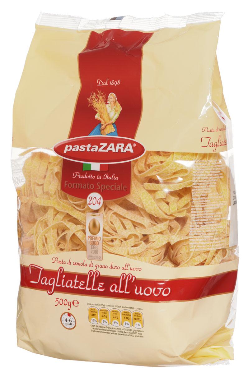 Pasta Zara Клубки яичные средние тальятелле макароны, 500 г0120710Макаронные изделия Pasta Zara - одна из самых популярных марок итальянских макаронных изделий в России. Продукция под торговой маркой Паста Зара сочетает в себе современность технологий производства и традиционное итальянское качество. Макаронные изделия Pasta Zara представлены более чем в 80 странах мира.Макароны Pasta Zara выпускаются в Италии с 1898 года семьёй Браганьоло уже в течение четырёх поколений. Компания Pasta Zara - это семейный бизнес, который вкладывает более, чем вековой опыт работы с макаронными изделиями в создание и продвижение своего продукта, тщательно отслеживая сохранение традиций.Макаронные изделия Pasta Zara Клубки изготовляются только из высококачественной муки твердых сортов пшеницы. По вкусу макароны максимально приближены к тем, что когда-то готовили дома, раскатывая скалкой.