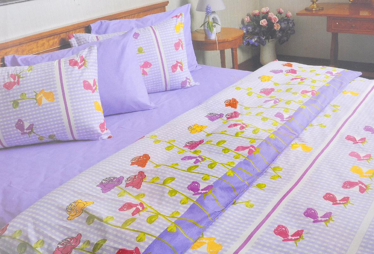 Комплект белья Brielle, 1,5-спальный, наволочка 50х70, цвет: белый, сиреневый (141)3001BrРоскошный комплект постельного белья Brielle выполнен из натурального ранфорса (100% хлопка) и украшен оригинальным рисунком. Комплект состоит из пододеяльника, простыни и наволочки. Ранфорс - это новая современная гипоаллергенная ткань из натуральных хлопковых волокон, которая прекрасно впитывает влагу, очень проста в уходе, а за счет высокой прочности способна выдерживать большое количество стирок. Высочайшее качество материала гарантирует безопасность. Доверьте заботу о качестве вашего сна высококачественному натуральному материалу.