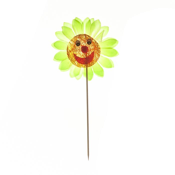 Украшение на ножке Village people Соломенные веселые цветы, цвет: зеленый. 66945_166945-1