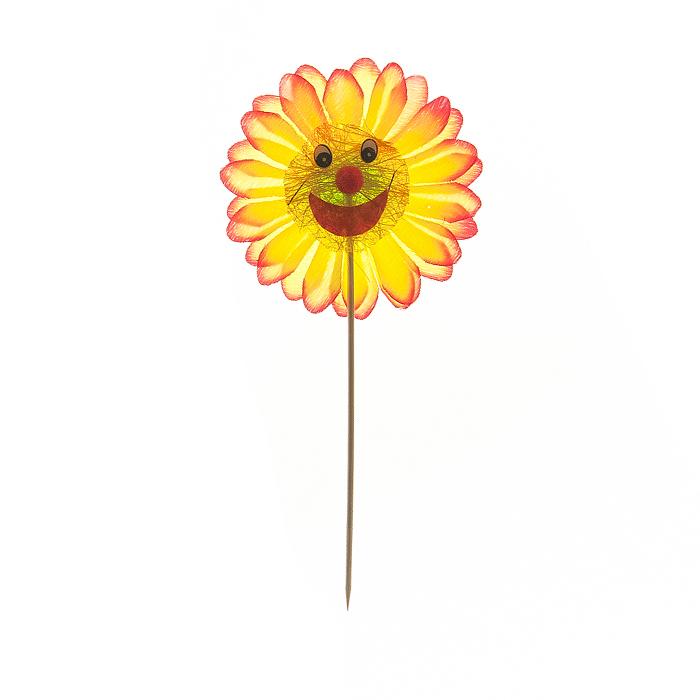 Украшение на ножке Village people Соломенные веселые цветы, цвет: желтый. 66945_366945-3