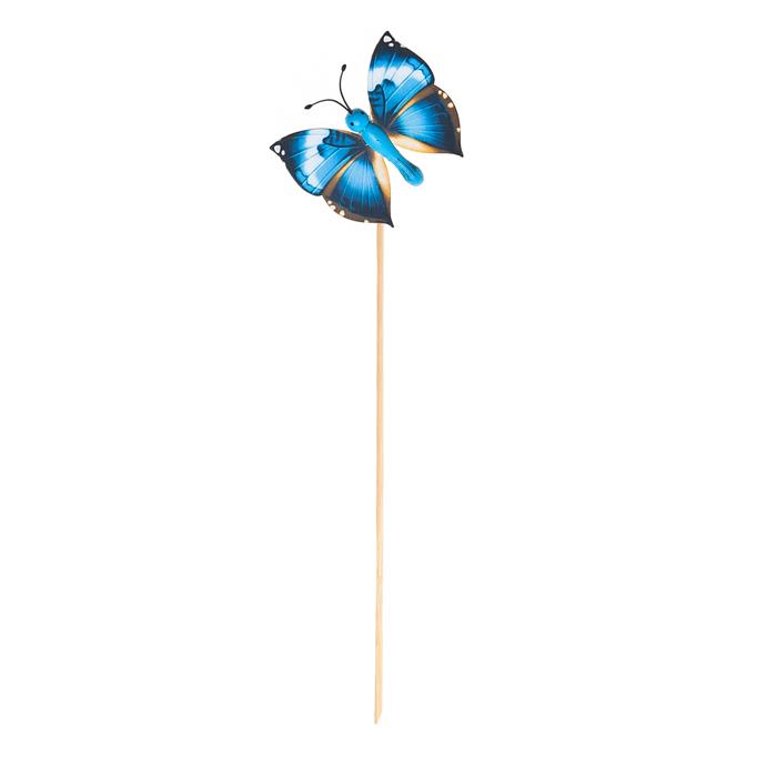 Украшение на ножке Village people Летающие бабочки. 66964_766964-7Украшение на ножке Летающие бабочки украсит садовый учаток