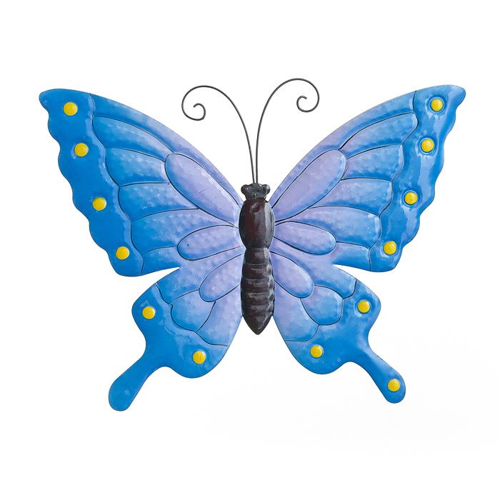 Настенное декоративное украшение Wall Art Village people Райские бабочки, цвет: синий. 67255_367255-3
