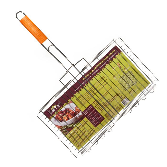 Решетка-гриль для барбекю Village people универсальная, 45х25(58)х5см, цвет: стальной. 6843468434