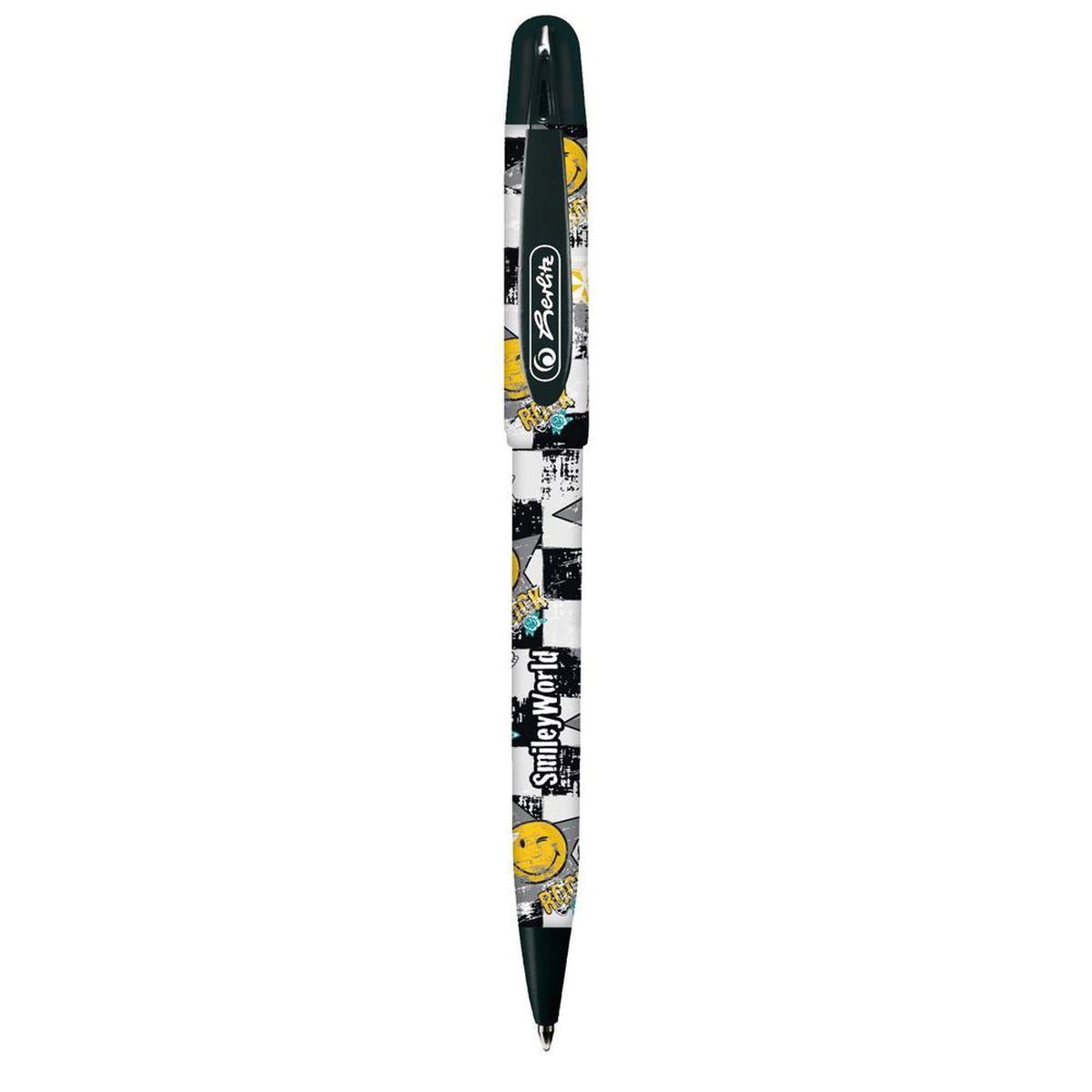 Herlitz Ручка шариковая Smiley World11234408Шариковая ручка Herlitz Smiley World в пластиковом корпусе станет незаменимым атрибутом любого школьника. Она долго пишет благодаря увеличенному запасу чернил и возможности замены стержня. Цвет чернил: синий.