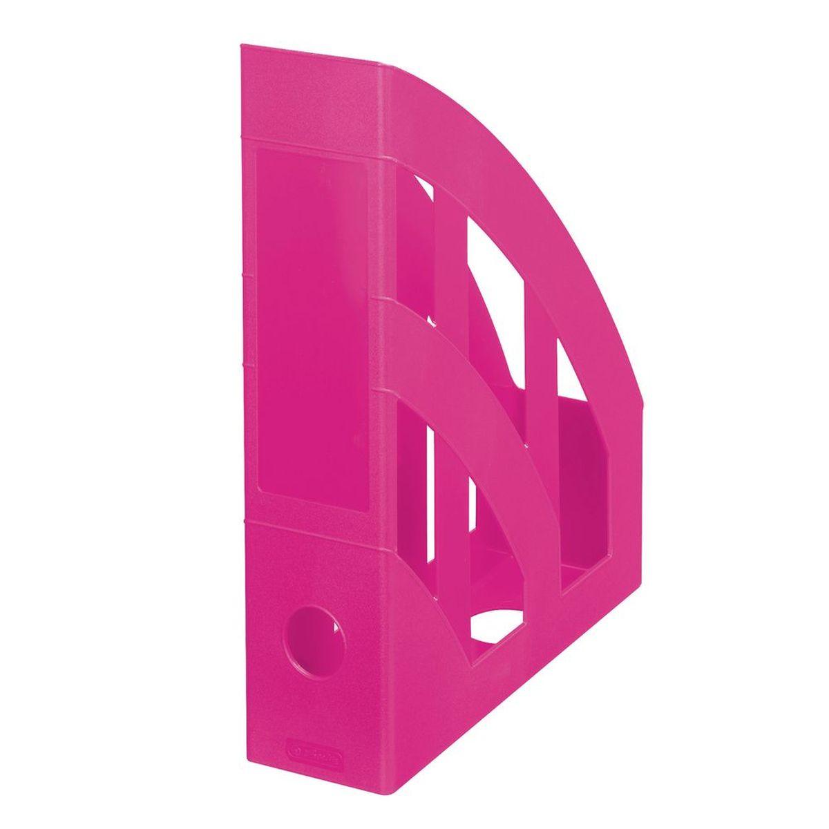 Herlitz Подставка для документов Classic цвет розовыйFS-00102Практичная подставка для бумаги формата А4 Herlitz всегда поможет вам избавиться от лишних документов и содержать порядок на рабочем столе. Она изготовлена из пластика и имеет круглый слот на задней стенке, находится всегда в вертикальном положении, тем самым обеспечивая надежную фиксацию различных документов.Подставка для документов значительно облегчает делопроизводство. Яркий дизайн позволит ей стать достойным аксессуаром среди ваших канцелярских принадлежностей и будет дарить вам хорошее настроение.