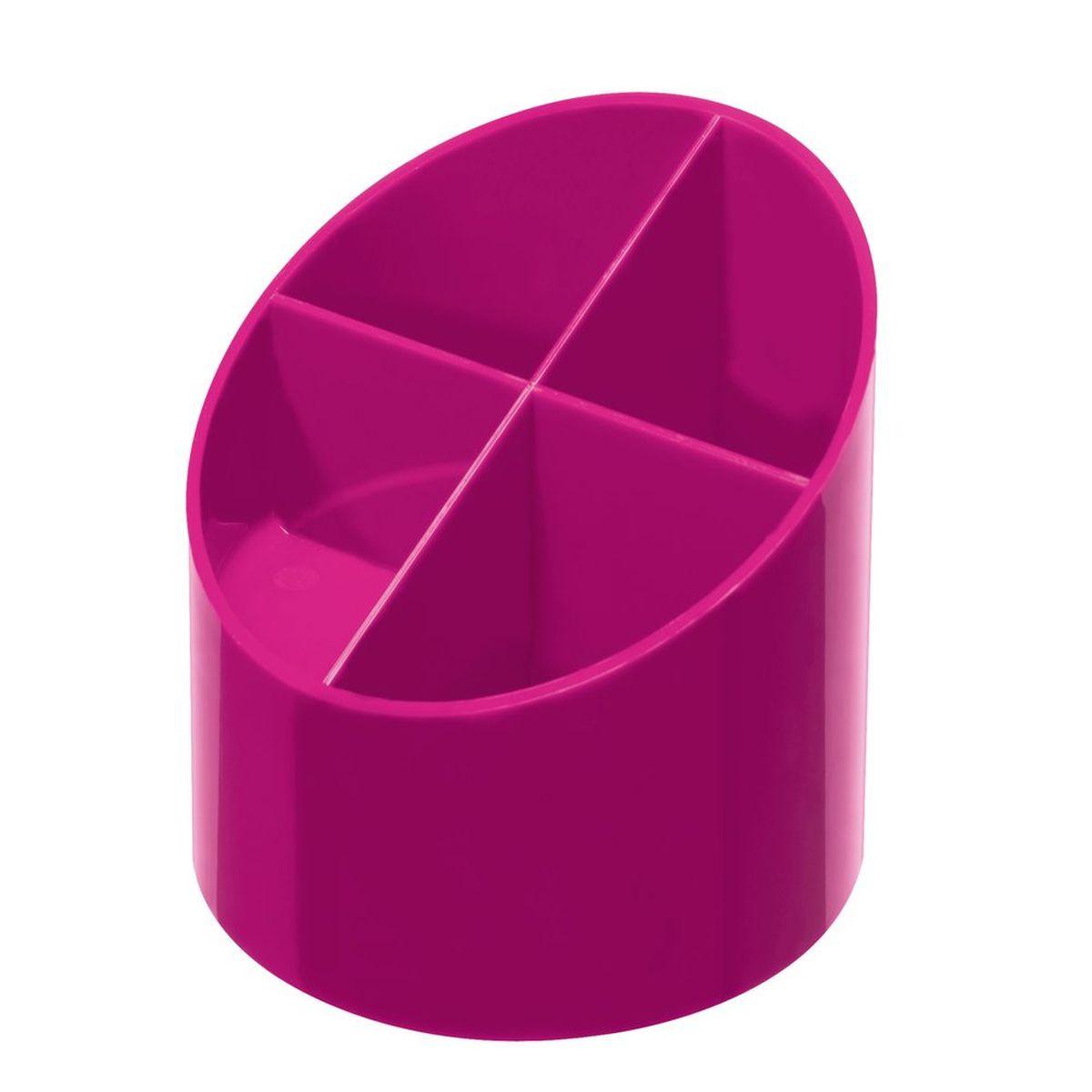 Herlitz Подставка канцелярских принадлежностей 4 секции цвет розовыйFS-00103Подставка для ручек округлой формы. Изготовлена из глянцевого пластика. Имеет 4 тделения для письменных принадлежностей и других офисных принадлежностей. Цвет розовый.