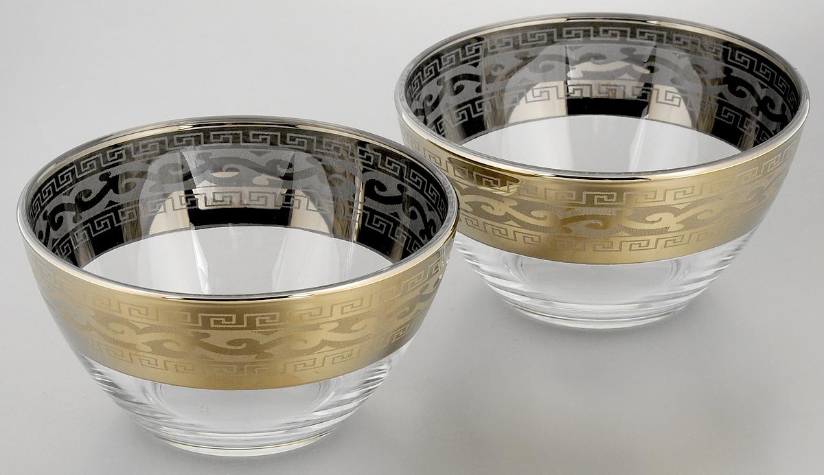 Набор салатников Гусь-Хрустальный Версаче, диаметр 13 см, 2 шт115610Набор Гусь-Хрустальный Версаче, выполненный из высококачественного натрий-кальций-силикатного стекла, состоит из 2 глубоких салатников. Изделия оформлены красивым зеркальным покрытием и белым матовым орнаментом.Такие салатникипрекрасно подходят длясервировки различных закусок, подачи салатов из свежих овощей, фруктов и многогодругого.Набор Гусь-Хрустальный Версаче прекрасно оформит праздничный стол и удивит васизысканным дизайном.