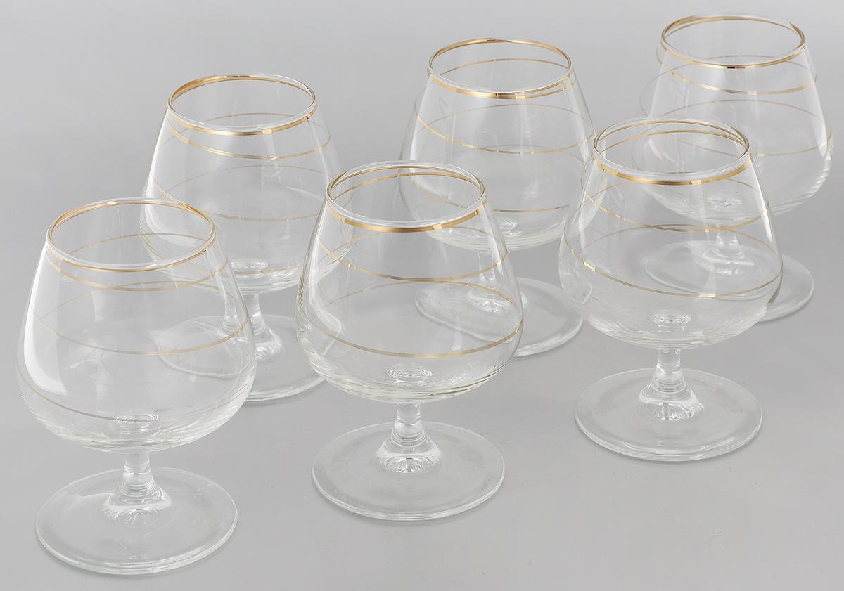 Набор бокалов для бренди Гусь-Хрустальный Змейка, 410 мл, 6 штVT-1520(SR)Набор Гусь-Хрустальный Змейка состоит из 6 бокалов на низкой ножке, изготовленных из высококачественного натрий-кальций-силикатного стекла. Изделия оформлены красивым зеркальным орнаментом. Бокалы предназначены для подачи бренди. Такой набор прекрасно дополнит праздничный стол и станет желанным подарком в любом доме. Разрешается мыть в посудомоечной машине. Диаметр бокала (по верхнему краю): 6,5 см. Высота бокала: 12,5 см. Диаметр основания бокала: 8 см.