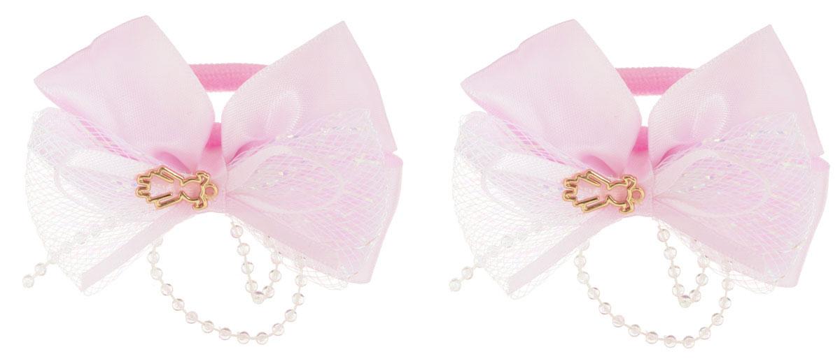 Babys Joy Резинка для волос цвет розовый 2 шт MN 143/2Серьги с подвескамиРезинка для волос Babys Joy изготовлена из текстиля и дополнена милым бантиком, который оформлен бусинками и подвеской в форме девочки.Комплект содержит две резинки.Резинка для волос Babys Joy надежно зафиксирует волосы и подчеркнет красоту прически вашей маленькой принцессы.