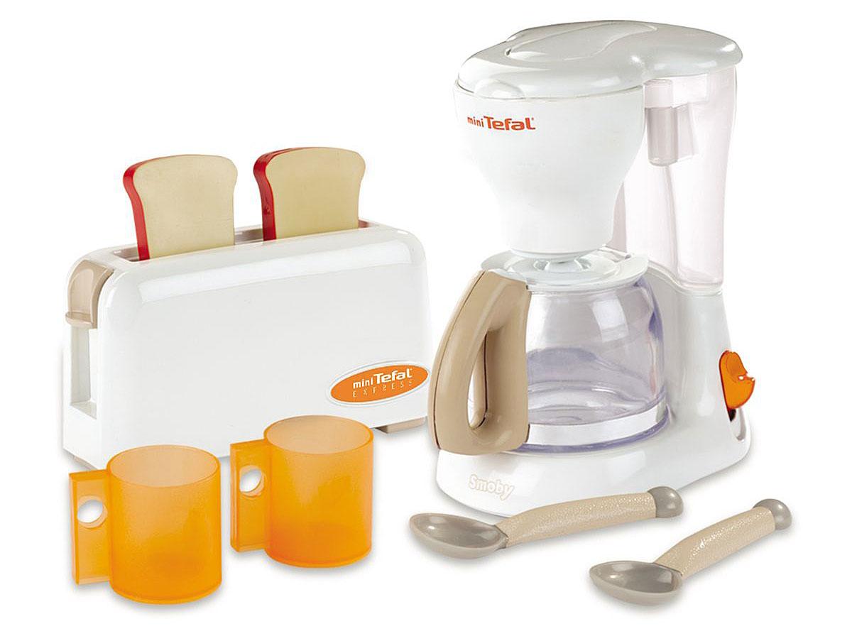 Smoby Игровой набор Тостер и кофеварка Tefal  smoby набор тостер кофеварка tefal
