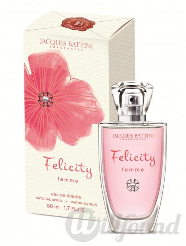 Jacgues Battini Cosmetics Парфюмерная вода для женщин Felicity, 100 мл jacgues battini cosmetics подарочный набор духи для женщин spark white 50мл лосьон для тела spark white 200 мл