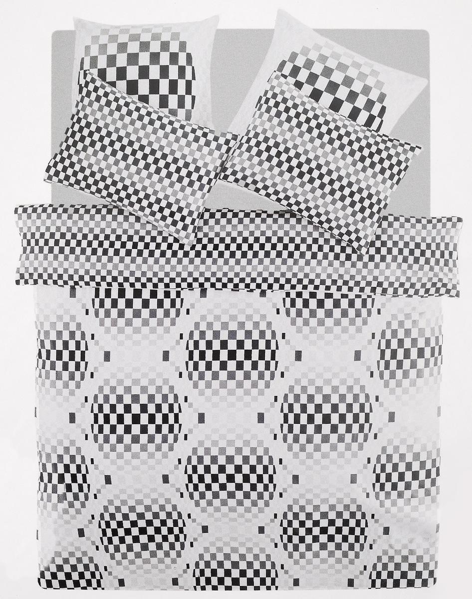 Комплект белья TAC Argos, 2-спальный, наволочки 50х70, 70х70, цвет: серый, белый3909Роскошный комплект постельного белья TAC Argos выполнен из качественного плотного сатина с использованием фирменного нанесения Pano. Комплект состоит из пододеяльника, простыни и четырех наволочек. Пододеяльник застегивается на пуговицы. Сатин – гладкая и прочная ткань, которая своим блеском, легкостью и гладкостью похожа на шелк, но выгодно отличается от него в цене. Сатин практически не мнется, поэтому его можно не гладить. Ко всему прочему, он весьма практичен, так как хорошо переносит множественные стирки. Доверьте заботу о качестве вашего сна высококачественному натуральному материалу.
