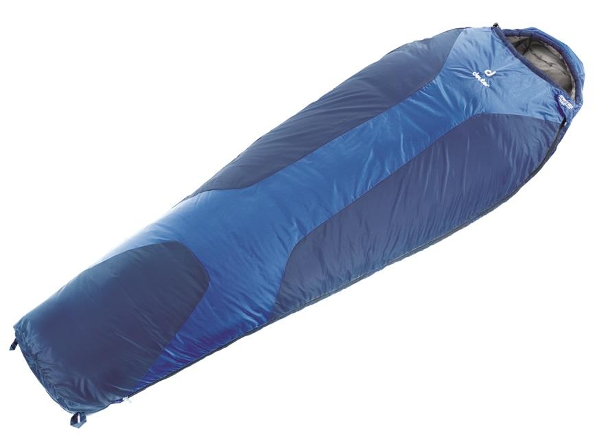 Спальный мешок Deuter Orbit + 5 L, цвет: синий, левая молния0-70-648Проверенный спальный мешок Deuter Orbit - прочный и простой в уходе. Спальник Deuter Orbit +5°L позволяет и осенью ночевать на природе. Вариант L обеспечивает комфорт людям высокого роста. Имеет утепляющие вставки Body Wormer из флиса в области рук, почек и ступней. Спальник может использоваться как одеяло, капюшон с двумя стяжными шнурами, накладка вдоль молнии. Двусторонняя молния YKK позволяет состегивать вместе два спальника, компрессионный упаковочный мешок, утепляющий воротник с подбитым краем.Особенности: Наполнитель: Deuter Thermo ProLoft. Подкладка: Deuter Soft Micro. Наружный материал: Dura Lite RS. Температура комфорта: +9°. Температура лимита: +5°. Температура экстрима: -9°. Вес: 960 гр. Рост: 200 см. Размер: 220 х 80 х 50 см.