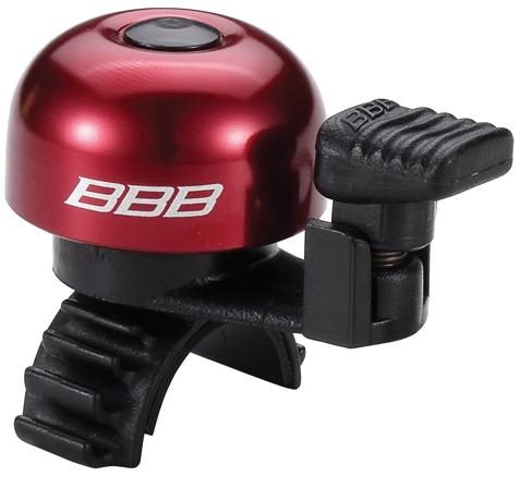 Звонок велосипедный BBB EasyFit, цвет: красный, черный1100Легкий звонок BBB EasyFit выполнен из прочного металла и оснащен пластиковым молоточком. Можно устанавливать в любом положении. Простое крепление подходит ко всем диаметрам рулей. Звонок легко ставить и снимать.