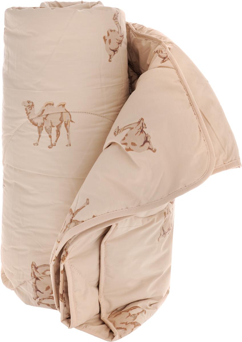 Одеяло легкое Легкие сны Верби, наполнитель: верблюжья шерсть, 200 х 220 см10503Легкое одеяло размера евро Легкие сны Верби поможет расслабиться, снимет усталость и подарит вам спокойный и здоровый сон. Верблюжья шерсть, благодаря особенностям структуры волокон, обладает высокой гигроскопичностью и дает сухое тепло, полезное людям с заболеваниями опорно-двигательного аппарата. Содержащийся в ней ланолин обладает антибактериальными и антистатическими свойствами. Поэтому одеяла из верблюжьей шерсти не накапливают пыль и не вызывают аллергии. Они очень теплые и практичные. Чехол одеяла выполнен из прочного тика с рисунком в виде верблюдов. Это натуральная хлопчатобумажная ткань, отличающаяся высокой плотностью, она устойчива к проколам и разрывам, а также отличается долговечностью в использовании. Легкое одеяло Верби идеально подойдет для прохладных весенних и летних ночей. Небольшая толщина одеяла, чехол из натуральной хлопковой ткани обеспечивают хорошую циркуляцию воздуха, позволяя коже дышать и не допуская перегрева. Одеяло простегано и окантовано. Стежка надежно удерживает наполнитель внутри и не позволяет ему скатываться. Под нежным и мягким одеялом вам приснятся только сказочные сны. Рекомендуется химчистка. Плотность наполнителя: 200 г/м2.