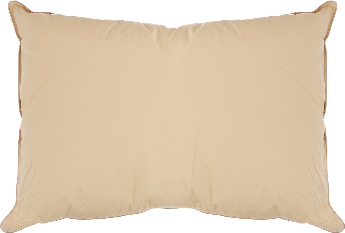 Подушка Легкие сны Капучино, наполнитель: гусиный пух категории Экстра, 50 х 68 см57(16)03 - КПодушка Легкие сны Капучино поможет расслабиться, снимет усталость и подарит вам спокойный и здоровый сон. Наполнителем этой подушки является воздушный и легкий гусиный пух категории Экстра. Чехол выполнен из гладкого, шелковистого и при этом достаточно прочного сатина (100% хлопок) карамельного цвета. По краю изделия выполнена отделка атласным кантом бежевого цвета. Это отличный вариант для подарка себе и своим близким и любимым. Подушку можно стирать в стиральной машине. Степень поддержки: средняя.