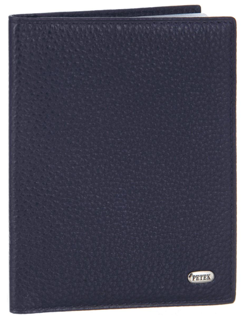 Обложка для автдокументов Petek 1855, цвет: синий. 584.46B.88584.46B.88 NavyСтильная обложка для автодокументов Petek 1855 изготовлена из натуральной кожи с зернистой фактурой, оформлена металлической пластиной с символикой бренда. Внутри изделия расположены четыре прорезных кармашка для пластиковых карт, сетчатый карман и вкладыш, включающий в себя шесть файлов под автодокументы. Изделие поставляется в фирменной упаковке. Практичная и удобная модель обложки предназначена для тех, кто предпочитает все необходимое хранить в одном месте.
