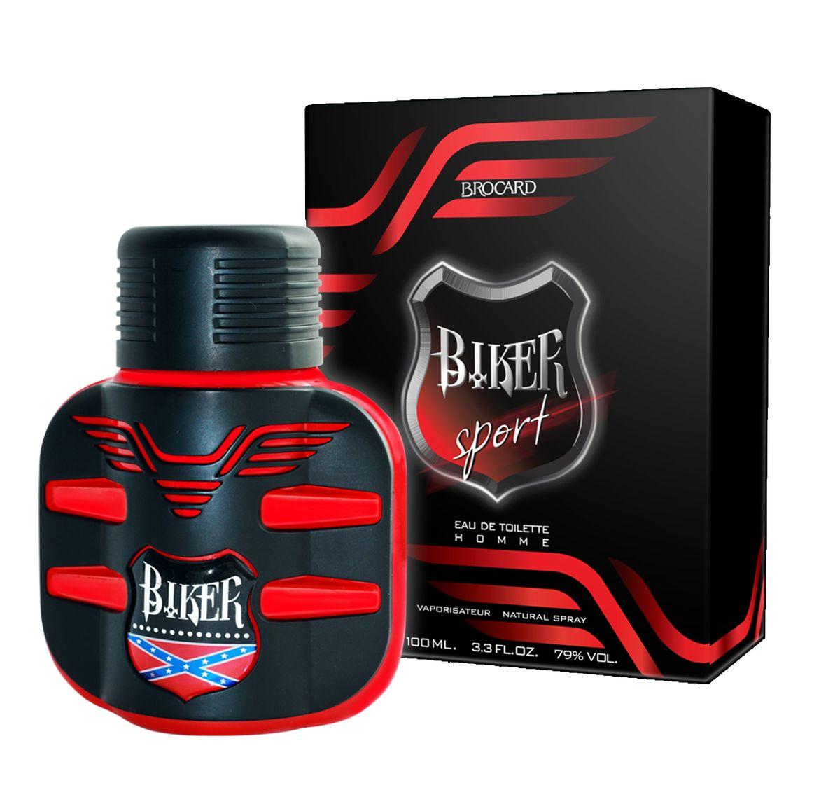 Brocard Biker Sport Туалетная вода для мужчин, 100 мл1301210Импульсивный, свежий, искрящийся, динамичный, порывистый и жизнеутверждающий...Цитрусово-фужерный аромат, созвучный порыву ветра. Скорость. Драйв. Эмоции...