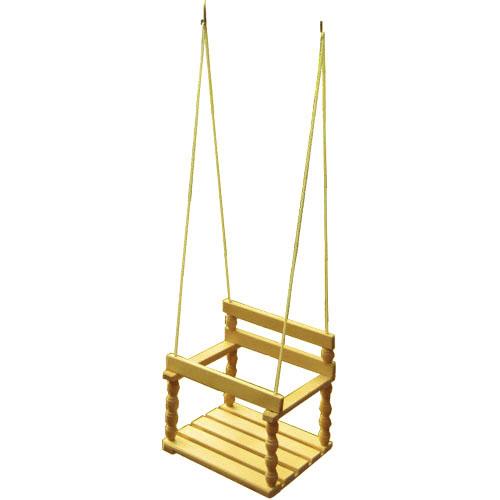 Качели деревянные, береза WILDMAN81-609Качели могут быть установлены на даче или дома в детской комнате.