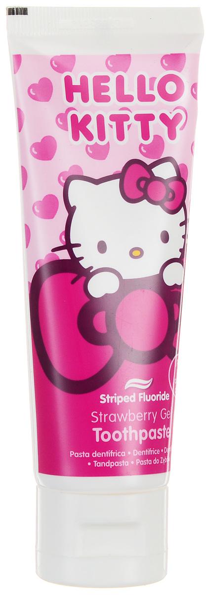 Hello Kitty Зубная паста-гель 75 млHK-1Зубная паста-гель Hello Kitty с флюоридом (1450 ppm) защищает от кариеса, укрепляет и реминерализирует эмаль, сохраняет десны здоровыми. Клубничный вкус пасты поможет сделать процесс чистки зубов более приятным. Не содержит сахар. Для детей от 6 лет.