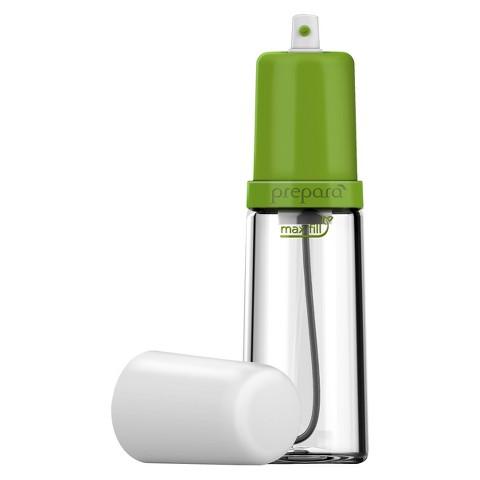 Распылитель масла Prepara Eco, 0,13 лPP08-MISTG1. Вместительная стеклянная емкость. 2. Широкое горло - позволяет сделать любой микс. 3. Фильтр-сетка предохраняет от засоров. 4. Давление создается за счет накачивания воздуха рукой. 5. Равномерность разбрызгивания. 6. Для масла и уксуса. 7. Подарочная упаковка 8. Объем 0,13 л. Идеальна для заправки салатов, сбрызгивания печенья прямо на противне, для готовки мяса на гриле, приготовления блинов, и многого другого! Поместите любимые ингредиенты в емкость, нажмите пару раз на распрыскиватель - и готово!