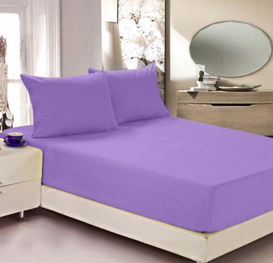 Простыня на резинке Легкие сны Color Way, трикотаж, цвет: сиреневый, 90 x 200 см10503Простыня Легкие сны Color Way выполнена из трикотажа. Высочайшее качество материала гарантирует безопасность не только взрослых, но и самых маленьких членов семьи. Изделие прошито резинкой по всему периметру, что обеспечивает более комфортный отдых, так как оно прочно удерживается на матрасе и избавляет от необходимости часто поправлять простыню. Простыня гармонично впишется в интерьер вашей спальни и создаст атмосферу уюта и комфорта.Рекомендации по уходу:Деликатная стирка при температуре воды до 30°С.Отбеливание, химчистка запрещены.Рекомендуется глажка при температуре подошвы утюга до 150°С.Разрешена барабанная сушка.