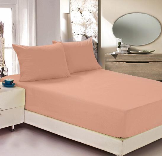 Простыня на резинке Легкие сны Color Way, трикотаж, цвет: персиковый, 140 x 200 смЛСПР-140/1Простыня Легкие сны Color Way выполнена из трикотажа. Высочайшее качество материала гарантирует безопасность не только взрослых, но и самых маленьких членов семьи. Изделие прошито резинкой по всему периметру, что обеспечивает более комфортный отдых, так как оно прочно удерживается на матрасе и избавляет от необходимости часто поправлять простыню. Простыня гармонично впишется в интерьер вашей спальни и создаст атмосферу уюта и комфорта. Рекомендации по уходу: Деликатная стирка при температуре воды до 30°С. Отбеливание, химчистка запрещены. Рекомендуется глажка при температуре подошвы утюга до 150°С. Разрешена барабанная сушка.