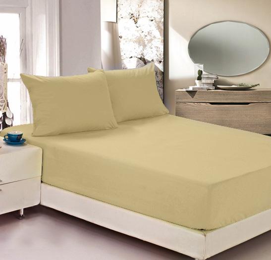 Простыня на резинке Легкие сны Color Way, трикотаж, цвет: бежевый, 90 x 200 см46(40)04-БВПростыня Легкие сны Color Way выполнена из трикотажа. Высочайшее качество материала гарантирует безопасность не только взрослых, но и самых маленьких членов семьи. Изделие прошито резинкой по всему периметру, что обеспечивает более комфортный отдых, так как оно прочно удерживается на матрасе и избавляет от необходимости часто поправлять простыню. Простыня гармонично впишется в интерьер вашей спальни и создаст атмосферу уюта и комфорта.Рекомендации по уходу:Деликатная стирка при температуре воды до 30°С.Отбеливание, химчистка запрещены.Рекомендуется глажка при температуре подошвы утюга до 150°С.Разрешена барабанная сушка.