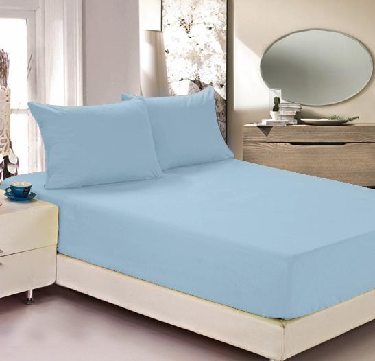 Простыня на резинке Легкие сны Color Way, трикотаж, цвет: голубой, 90 x 200 смПтр-200_белыйПростыня Легкие сны Color Way выполнена из трикотажа. Высочайшее качество материала гарантирует безопасность не только взрослых, но и самых маленьких членов семьи. Изделие прошито резинкой по всему периметру, что обеспечивает более комфортный отдых, так как оно прочно удерживается на матрасе и избавляет от необходимости часто поправлять простыню. Простыня гармонично впишется в интерьер вашей спальни и создаст атмосферу уюта и комфорта.Рекомендации по уходу:Деликатная стирка при температуре воды до 30°С.Отбеливание, химчистка запрещены.Рекомендуется глажка при температуре подошвы утюга до 150°С.Разрешена барабанная сушка.