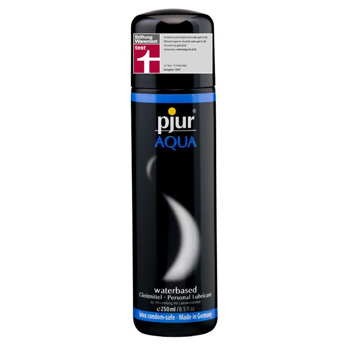 Pjur, Увлажняющий лубрикант pjur AQUA 250 млSW 283Лубрикант на водной основе. Качество говорит само за себя. Очень бережно отностися к слизистым оболочкам на микробиологическом уровне. Лубрикант увлажняет кожу, не делая ее липкой. Не содержит нефтепродуктов, масел, и парфюмерных добавок, что делает его особо нежной для вашей кожи и слизистых оболочек. Сверхмягкая формула с продолжительным скольжением питает и защищает сухую и поврежденную кожу. Будь то ежедневные ласки или регулярный уход за телом: pjur AQUA всегда оставляет приятные ощущения.