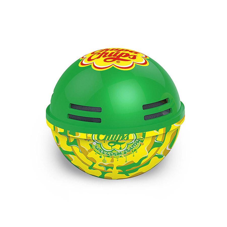 Ароматизатор воздуха Chupa Chups Лайм-лимон, на панель приборов, гелевый, 100 млCHP602Круглый гелевый ароматизатор на панель приборов в виде огромного леденца Chupa Chups с ароматом лимона и лайма. Обеспечивает приятный запах до 45 дней. Легко размещается в салоне автомобиля, а оригинальный необычный дизайн ароматизатора еще и украшает салон.