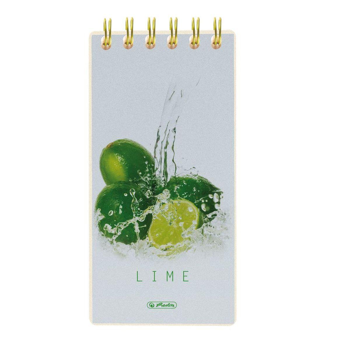 Herlitz Блокнот Fresh Fruit Лайм 100 листов формат 8,5 х 17 11306263