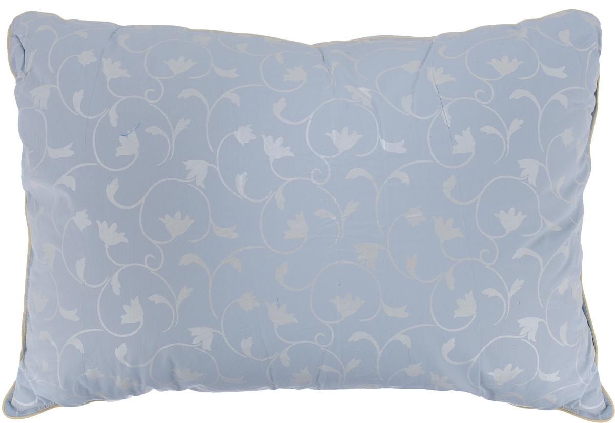 Подушка Легкие сны Камелия, наполнитель: гусиный пух, 50 x 68 см12245Подушка Легкие сны Камелия поможет расслабиться, снимет усталость и подарит вам спокойный и здоровый сон. Наполнителем этой подушки является воздушный и легкий гусиный пух первой категории. Чехол изделия выполнен из пуходержащего тика небесно-голубого цвета с растительным рисунком. Тик - это натуральная хлопчатобумажная ткань, отличающаяся высокой плотностью, идеально подходит для пухо-перовых изделий, так как устойчива к проколам и разрывам, а также отличается долговечностью в использовании. По краю подушки выполнена отделка кантом. Это отличный вариант для подарка себе и своим близким и любимым.Рекомендации по уходу:Деликатная стирка при температуре воды до 30°С.Отбеливание, барабанная сушка и глажка запрещены.Разрешается обычная химчистка.Степень поддержки: средняя.