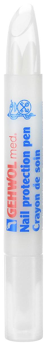 Gehwol Med Nail protection pen - Защитный антимикробный карандаш для ног 3 мл1*41023Защитный антимикробный карандаш Геволь мед (Gehwol med Nail protection pen) эффективно защищает ногти от поражений грибковыми заболеваниями (в составе активное вещество клотримазол). Ухаживает за сухими и ломкими ногтями, возвращает им влагу и придает эластичность. В составе пропитки карандаша такие высококачественные натуральные компоненты, как масло жожоба, витамин Е-ацетат, пантенол и бисаболол. Витамин В5 - стимулирует процесс регенерации клеток. Бисаболол (натуральное вещество из эфирного масла ромашки) препятствует распространению грибов и бактерий. Назначение: Грибковые заболевания. Защита ног в открытой обуви.
