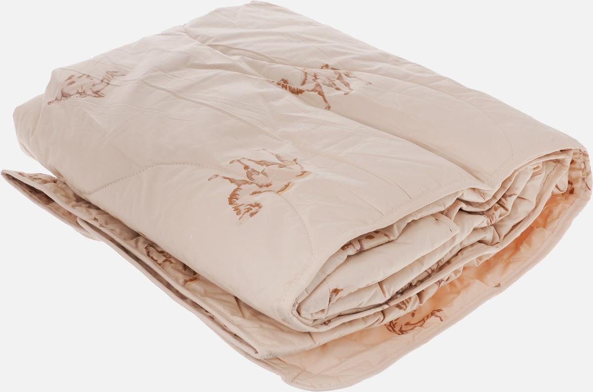 Одеяло легкое Легкие Сны Верби, наполнитель: верблюжья шерсть, 140 x 205 см10503Легкое стеганое одеяло Легкие Сны Верби поможет расслабиться, снимет усталость и подарит вам спокойный и здоровый сон.Верблюжья шерсть является прекрасным изолятором и широко используется как наполнитель для постельных принадлежностей. Шерсть обладает отличными согревающими свойствами и способна быстро поглощать влагу, поэтому производимое верблюжьей шерстью целебное тепло называют сухим. Чехол одеяла выполнен из прочного тика с рисунком в виде верблюдов. Это натуральная хлопчатобумажная ткань, отличающаяся высокой плотностью, она устойчива к проколам и разрывам, а также отличается долговечностью в использовании. Чехол приятен к телу и надежно удерживает наполнитель внутри одеяла. По краю одеяла выполнена отделка атласным кантом. Рекомендуется химчистка. Степень поддержки: средняя.