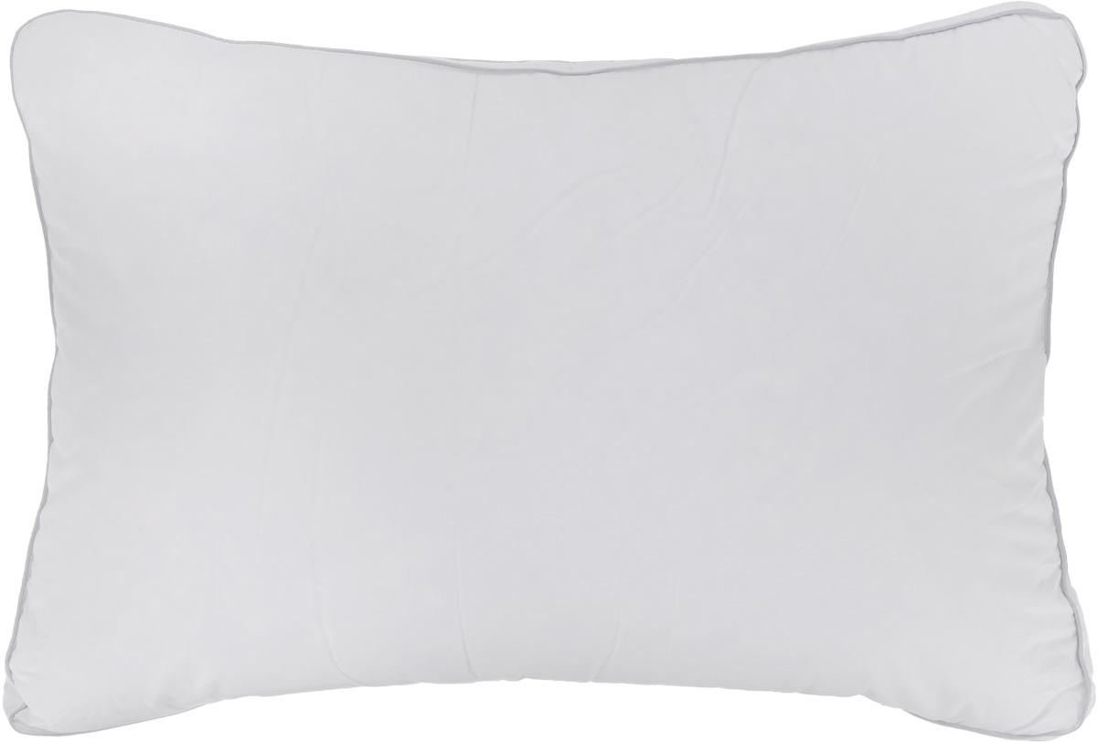 Подушка Легкие сны Лоретта, наполнитель: гусиный пух категории Экстра, 50 x 68 см57(17)03-ЭБПодушка в традиционном исполнении Легкие сны Афродита поможет расслабиться, снимет усталость и подарит вам спокойный и здоровый сон. Изделие обеспечит комфортную поддержку головы и шеи во время сна. Подушка наполнена серым гусиным пухом категории Экстра, оно необычайно легкое, пышное, обладает превосходными теплозащитными свойствами. Распределение пуха способствует сохранению формы и воздушности изделия. Чехол подушки выполнен из прочного сатина. По краю подушки выполнена отделка атласным кантом. Рекомендации по уходу: Деликатная стирка при температуре воды до 30°С. Отбеливание, барабанная сушка и глажка запрещены. Разрешается обычная химчистка. Степень поддержки: мелкая.