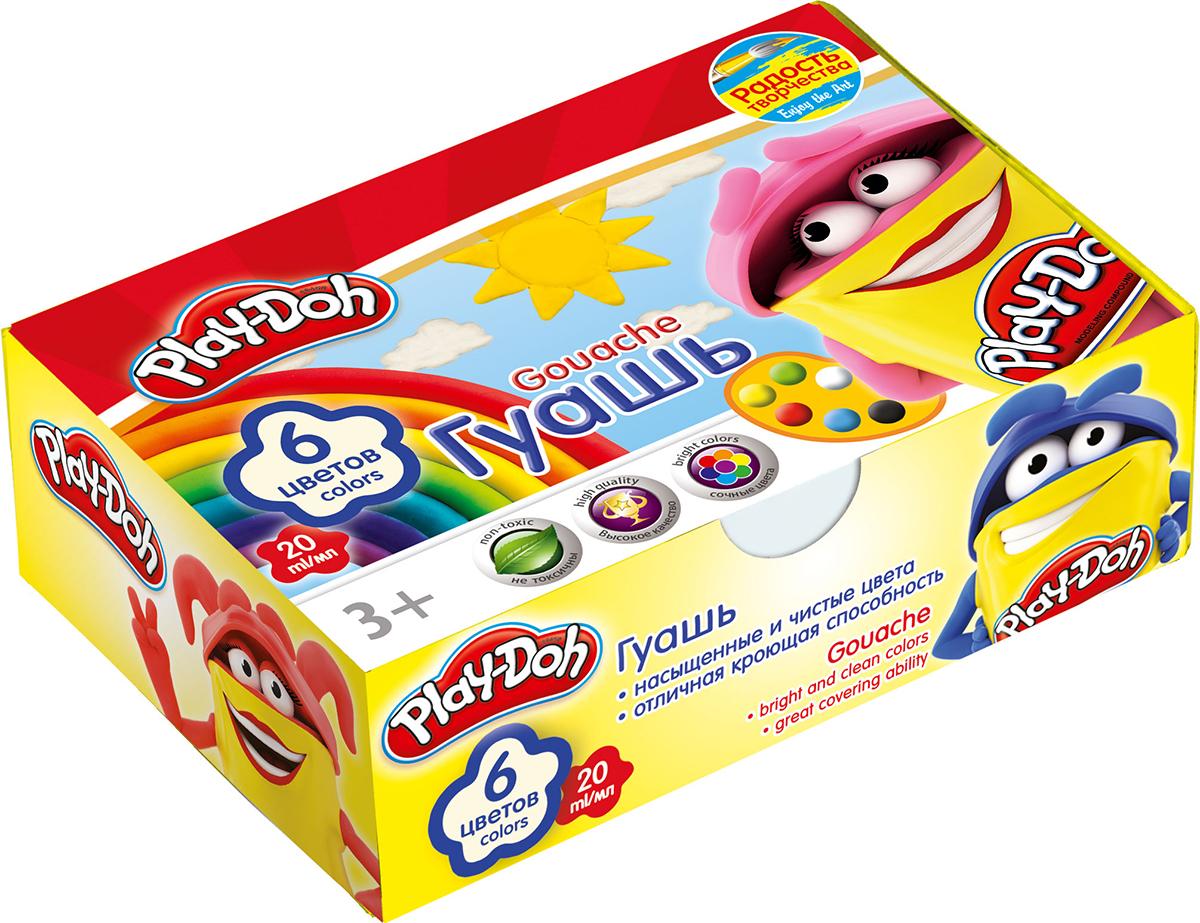 Play-Doh Краски гуашевые 6 цветовPDCP-US1-GU20-6Краски гуашевые 6 цветов. Объем краски одного цвета 20 мл.
