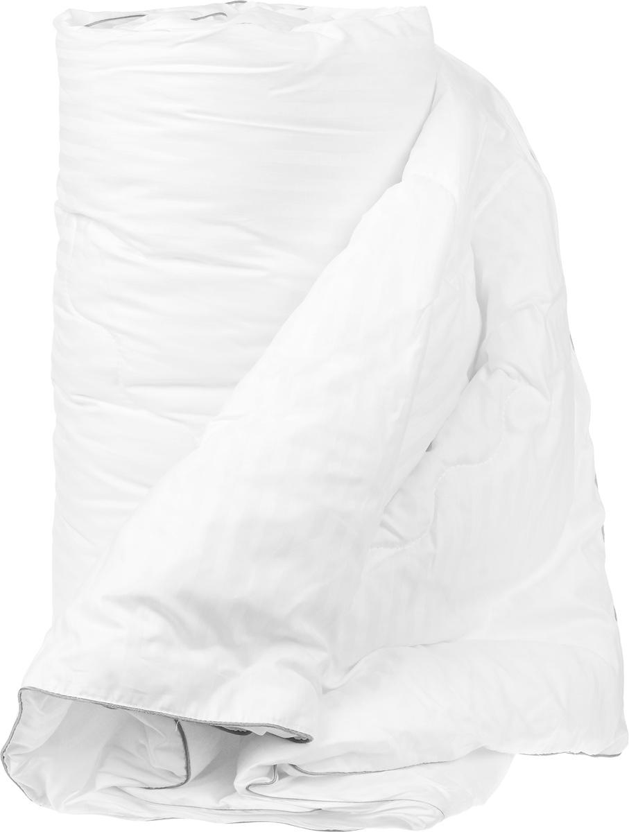 Одеяло теплое Легкие сны Элисон, наполнитель: лебяжий пух, 140 х 205 см140(42)03-ЛПТеплое одеяло Легкие сны Элисон поможет расслабиться, снимет усталость и подарит вам спокойный и здоровый сон. В качестве наполнителя используется синтетический сверхтонкий и практически невесомый материал, названный лебяжьим пухом. Изделия с наполнителем из искусственного пуха легкие, мягкие и не вызывают аллергии. Чехол изделия выполнен из белоснежного сатина (100% хлопок) с тиснением страйп (полосы). Одеяло простегано и отделано по краю атласным кантом серого цвета. Одеяло с таким наполнителем практично, легко стирается и быстро сохнет, сохраняя свои первоначальные свойства. Можно стирать в стиральной машине.