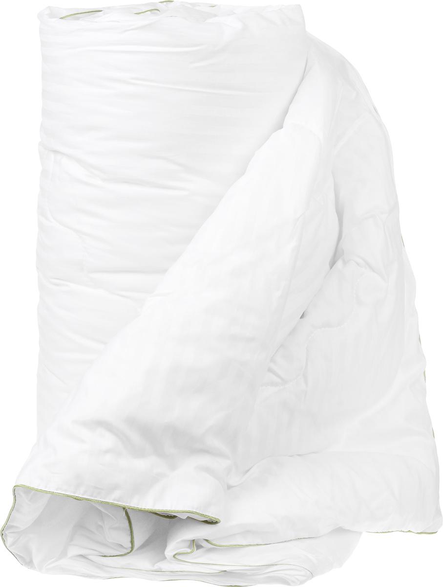 Одеяло легкое Легкие сны Бамбоо, наполнитель: бамбуковое волокно, 200 х 220 см200(40)03-БВОЛегкое одеяло Легкие сны Бамбоо с наполнителем из бамбука расслабит, снимет усталость и подарит вам спокойный и здоровый сон. Волокно бамбука - это натуральный материал, добываемый из стеблей растения. Он обладает способностью быстро впитывать и испарять влагу, а также антибактериальными свойствами, что препятствует появлению пылевых клещей и болезнетворных бактерий. Изделия с наполнителем из бамбука легко пропускают воздух, создавая охлаждающий эффект, поэтому им нет равных в жару. Они отличаются превосходными дезодорирующими свойствами, мягкие, легкие, простые в уходе, гипоаллергенные и подходят абсолютно всем. Чехол одеяла выполнен из сатина (100% хлопок). Одеяло простегано и окантовано. Стежка надежно удерживает наполнитель внутри и не позволяет ему скатываться. Одеяло можно стирать в стиральной машине.