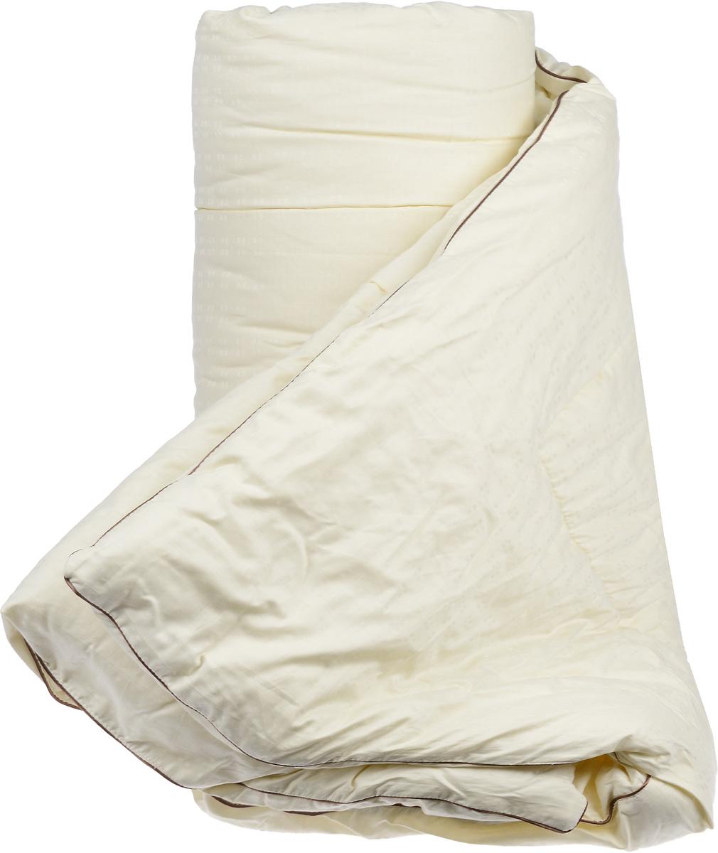 Одеяло теплое Легкие сны Милана, наполнитель: шерсть кашмирской козы, 200 х 220 см200(34)03-КШТеплое одеяло Легкие сны Милана с наполнителем из шерсти кашмирской козы расслабит, снимет усталость и подарит вам спокойный и здоровый сон. Пух горной козы не содержит органических жиров, в нем не заводятся пылевые клещи, вызывающие аллергические реакции. Он очень легкий и обладает отличной теплоемкостью. Одеяла из такого наполнителя имеют широкий диапазон климатической комфортности и благоприятно влияют на самочувствие людей, страдающих заболеваниями опорно-двигательной системы. Шерстяные волокна, получаемые из чесаной шерсти горной козы, имеют полую структуру, придающую изделиям высокую износоустойчивость. Чехол одеяла, выполненный из сатина (100% хлопка), отлично пропускает воздух, создавая эффект сухого тепла. Одеяло простегано и окантовано. Стежка надежно удерживает наполнитель внутри и не позволяет ему скатываться. Плотность наполнителя: 300 г/м2.