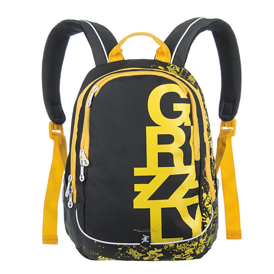 Рюкзак городской Grizzly, цвет: серый, желтый, 18 л. RU-400-1/4RU-400-1/4Рюкзак молодежный, два отделения, карман на молнии на передней стенке, боковые карманы из сетки, внутренний карман на молнии, внутренний карман-пенал для карандашей, внутренний подвесной карман на молнии, жесткая анатомическая спинка, дополнительная ручка-петля, укрепленные лямки